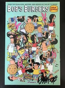 Bob/'s Burgers TPB Lot Signed /& Sketched by Artist Frank Forte Louise Belcher