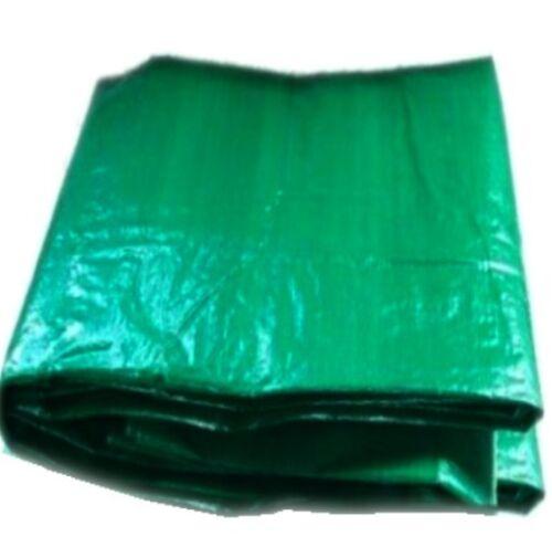 2 X GREEN TARPAULIN GROUNDSHEET 3.5M X 5.4M 12FT X 18FT SECONDS