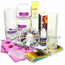 Nail Art Acrylic Tips DIY Liquid Powder Rhinestone Glue Block Dappen  Kit Set