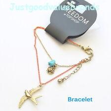 TOPSHOP Lovely Bird Flower and Stone Bangle / Bracelet - Cute style - UK Seller~