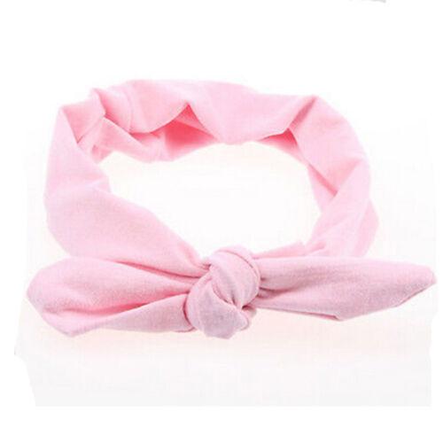 Bow Rabbit Turban Style Elastic Plain Women Hair Band Hairband Headband