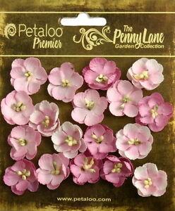 Forget-Me-Nots-PINK-16-Paper-Flowers-20-24mm-across-Penny-Lane-Petaloo