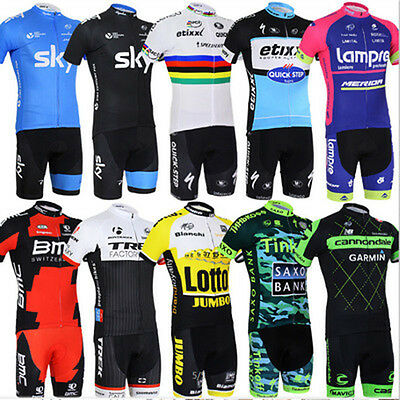 Men Women Cycling Set Summer Zip Jersey Shorts Outdoor Sports Riding Clothes
