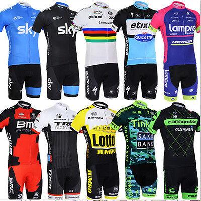 Men Women Cycling Set Summer Zip Jersey Shorts Outdoor Sports Riding Clothes