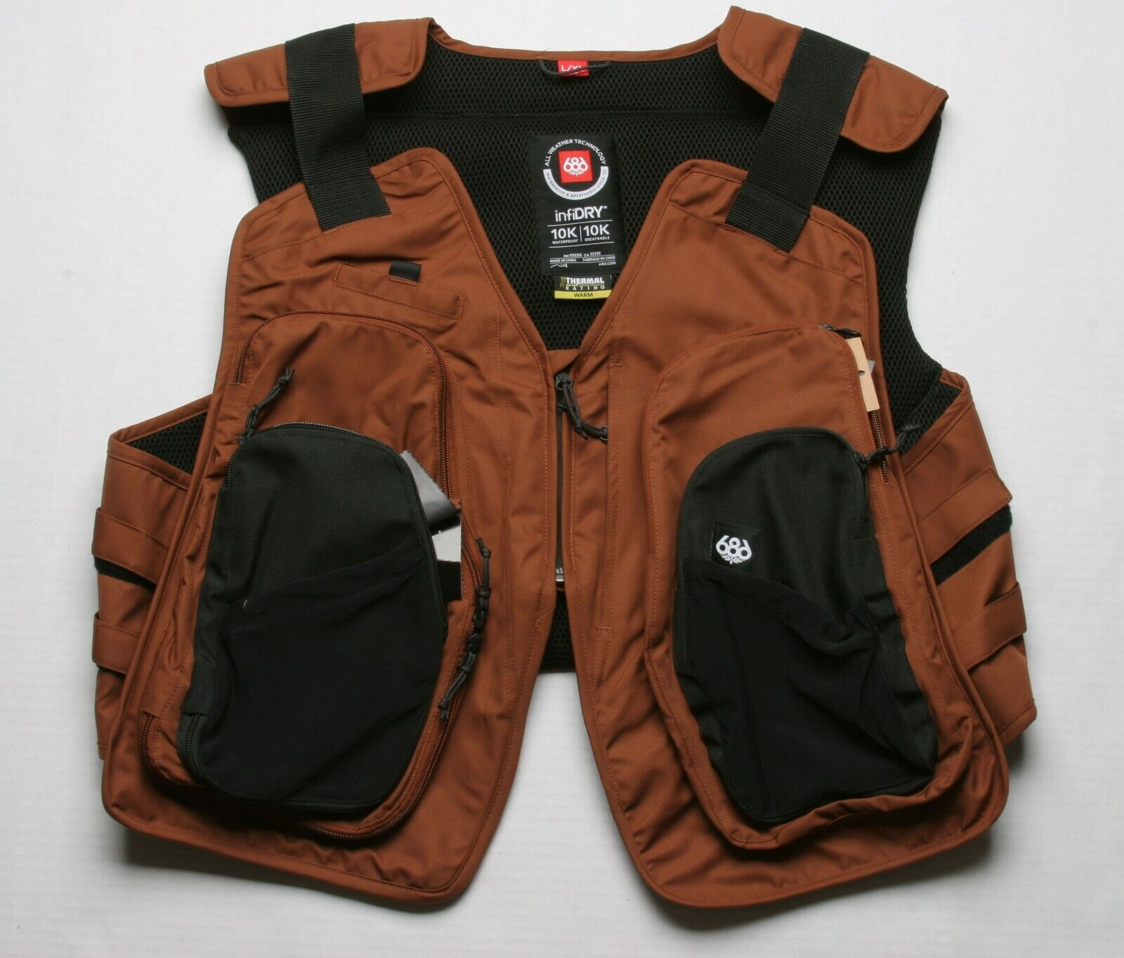 686 Victory Vest (L/XL) CLAY M0WVST02-CLAY