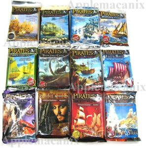 NEW-Wizkids-Pirates-CSG-Booster-Pack-Lot-12-Packs-Spanish-Main-to-Fire-amp-Steel