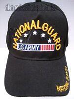 U.s. Army National Guard Cap/hat, New, Black, Military