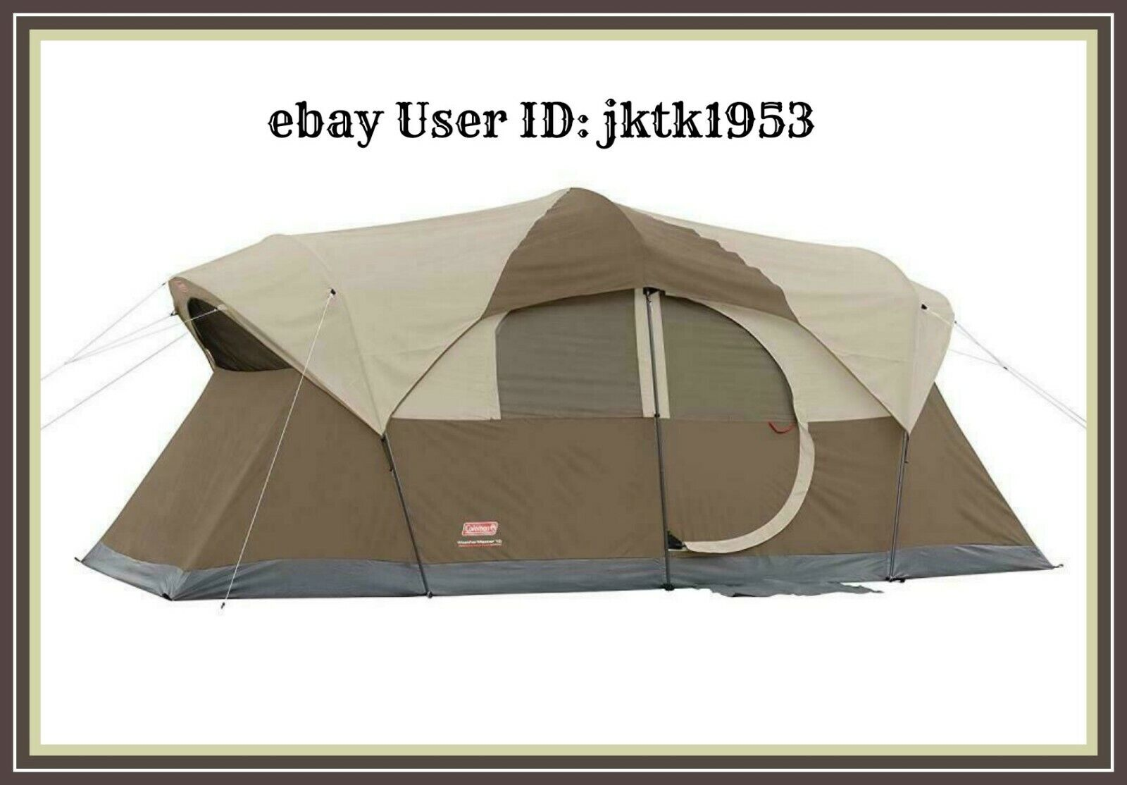 Coleman WeatherMaster 10Person Tent 17' X 9' w 68 Center with a Room Divider