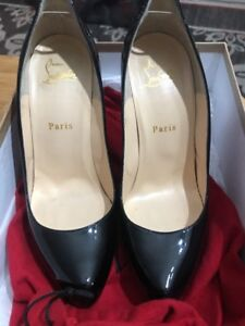 premium selection 1a64b 29c57 Details about Pre-Owned Christian Louboutin Rolando 120 Patent Calf Heels  38 (7.5)