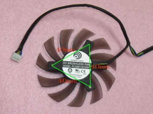 75mm MSI GTX 570 580 R6870 R6950 R6970 Twin Frozr II Dual Fan PLD08010S12HH R83b