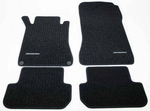 Original Mercedes-Benz Fußmatten Ripsmatten Matten Satz CLK W209 209 Coupe schwa