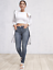 Athleta Sculptek Skinny Jean Azure Wash SIZE 4                    #351674 N0714