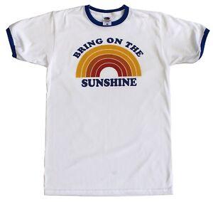 37a0bc684c2 Bring on the Sunshine T-Shirt Summer Rainbow Tee Ringer Baseball Top ...