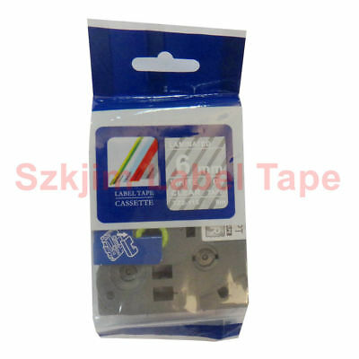 TZ-115 White on Clear 6mm 8m Lable Tape Compatible for Brother P-touch TZe-115