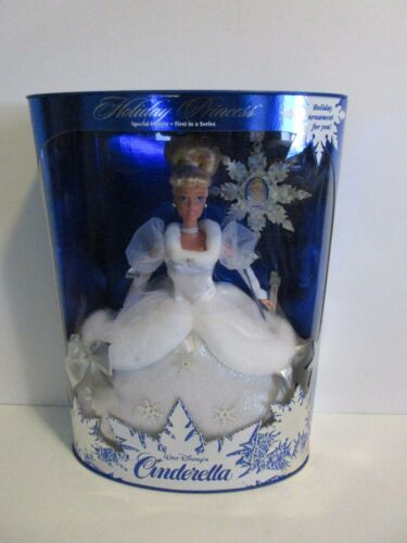 1996 Holiday Princess Walt Disney's Cinderella BarbieNew In The Box