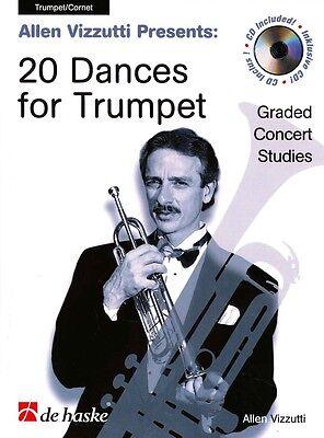 Musical Instruments & Gear Instruction Books, Cds & Video Vizzutti 20 Dances For Trumpet Book & Cd* Durable Service