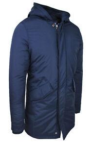 Caricamento dell immagine in corso Parka-uomo-giacca-cappotto-blu -scuro-invernale-trench- 5e8b591b243