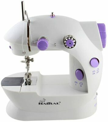 with Table and Sewing Kit,US Plug Mini Electric Sewing Machine Portable Household Sewing Machine Beginner Tailors Free-Arm Crafting Mending Machine for DIY Crafting