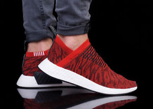 46fe0590c8789 Adidas NMD CS2 PK Nomad City Sock Red Black White Boost BY9406 Men s ...