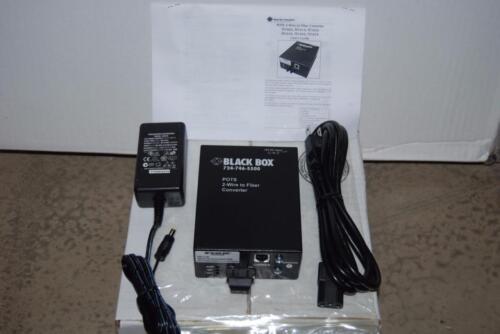 Black Box TE162A POTS 2-Wire to Fiber Converter FXS to Multimode SC NEW