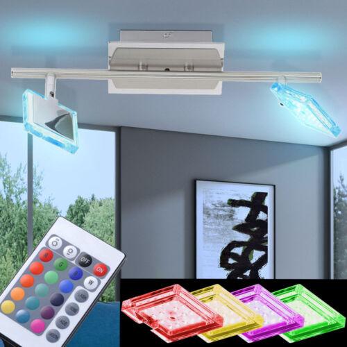 RGB LED Wandleuchten Deckenstrahler Farbwechsler Flurlampen FERNBEDIENUNG EEK A