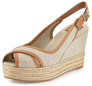 bc5ecf68a Image is loading NEW-TORY-BURCH-Majorca-Platform-Slingback-Wedge-Sandals-