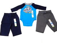 Baby Boys Clothes Boys Outfits I'm On Dads Crew Creeper Pants Sweats 3 Pc 0-3 Mo