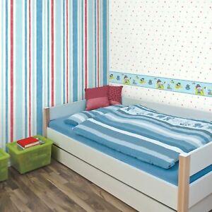 Carrousel-Large-Rayure-Papier-Peint-Fine-Decor-DL21141-Bleu-Rouge
