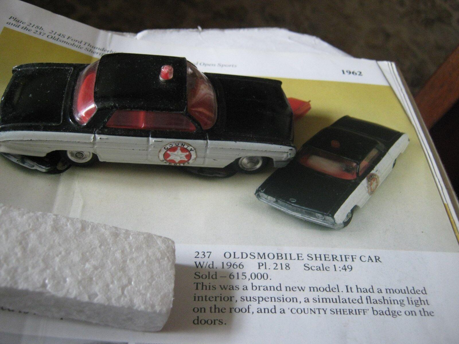 Corgi 237 oldsmobile  sheriff  original ein gutes auto in original - box