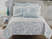 Cynthia Rowley Floral Paisley 3 Piece Queen/full Quilt Set- With 2 Shams-new