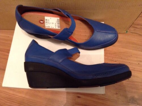 Blue Flexible sin Nuevo Tamaño de Plataforma Shoes 8 Hun cuña 43 Chelsea Clarks estructura SFCxPqxRw
