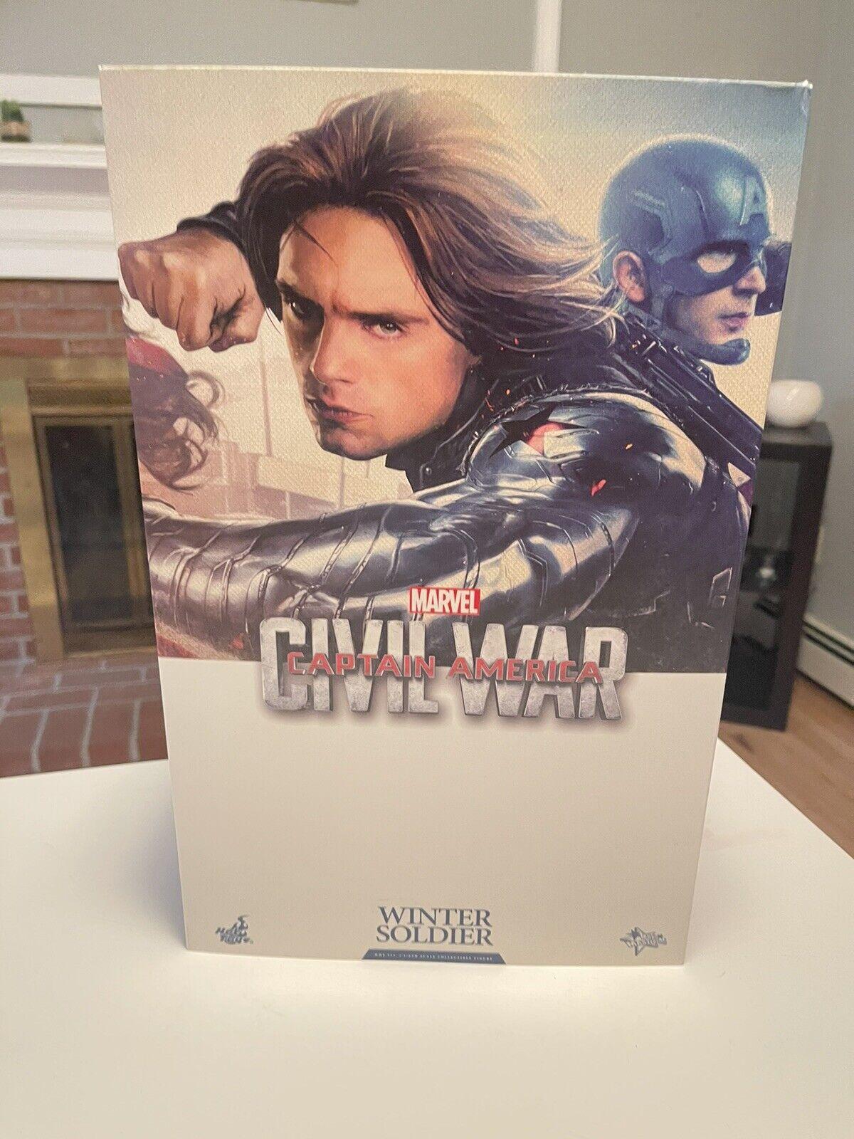Hot Toys Civil War Captain America Bucky Barnes Winter Soldier 12 inch Action... on eBay thumbnail