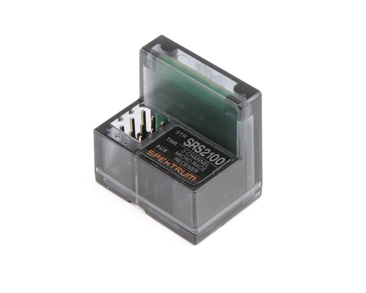 SPMSR2100 Spektrum RC SR2100 Micro 3-Channel 3ch DSMR Race Surface Receiver RX