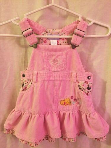 Vintage 90s Girls/' Pink Winnie the Pooh Disney Snap Front Short Sleeve Dress