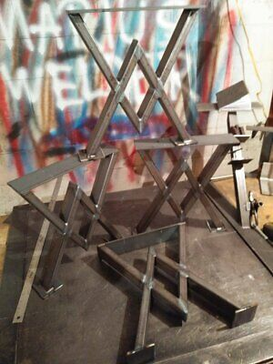 Table Base Pedestal Dining Metal Custom Height Legs Ebay
