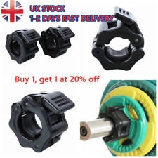 Pair KOMODO Olympic Barbell Collars 2 inch 50mm Dumbell Bar Clamps Weight Lifting Quick Release Lock Gym Fitness