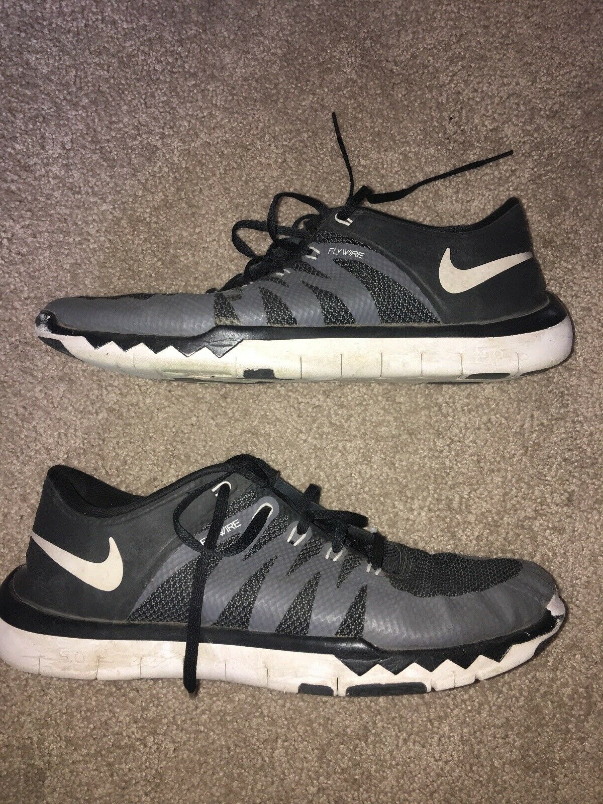 MEN'S NIKE FREE TRAINER 5.0 V6: SIZE 11.5 GRY/WHT/BLK 719922-010 The most popular shoes for men and women