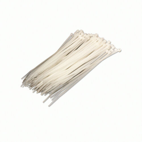 8 Inch Nylon Cable Wire Zip Tie 40 lbs Natural White 100 Pack Lot Pcs Qty