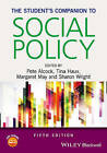 The Student's Companion to Social Policy by John Wiley & Sons Inc (Paperback, 2016)