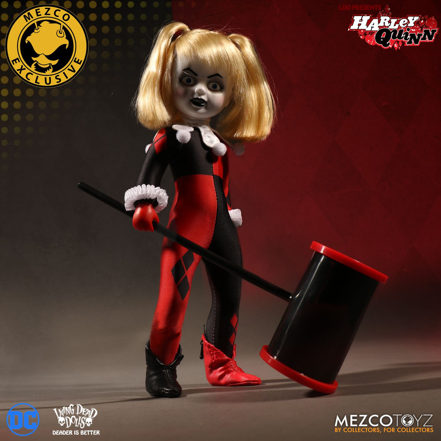Living Dead Doll Presents Classic Harley Quinn Unmasked By Mezco SDCC Exclusive
