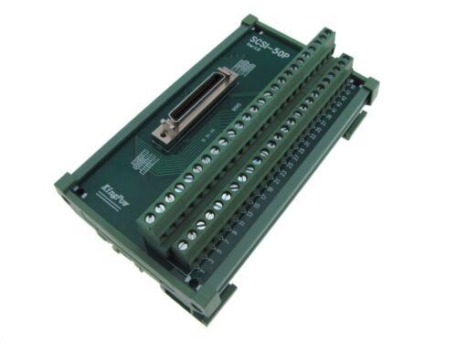 50-Pin SCSI Female Signals Breakout Board Module Din Rail servo drive motor