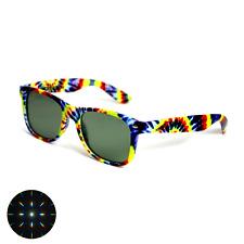 Tie-Dye Emerald Lens Diffraction Glasses - Firework Trippy Prism Rainbow Fractal