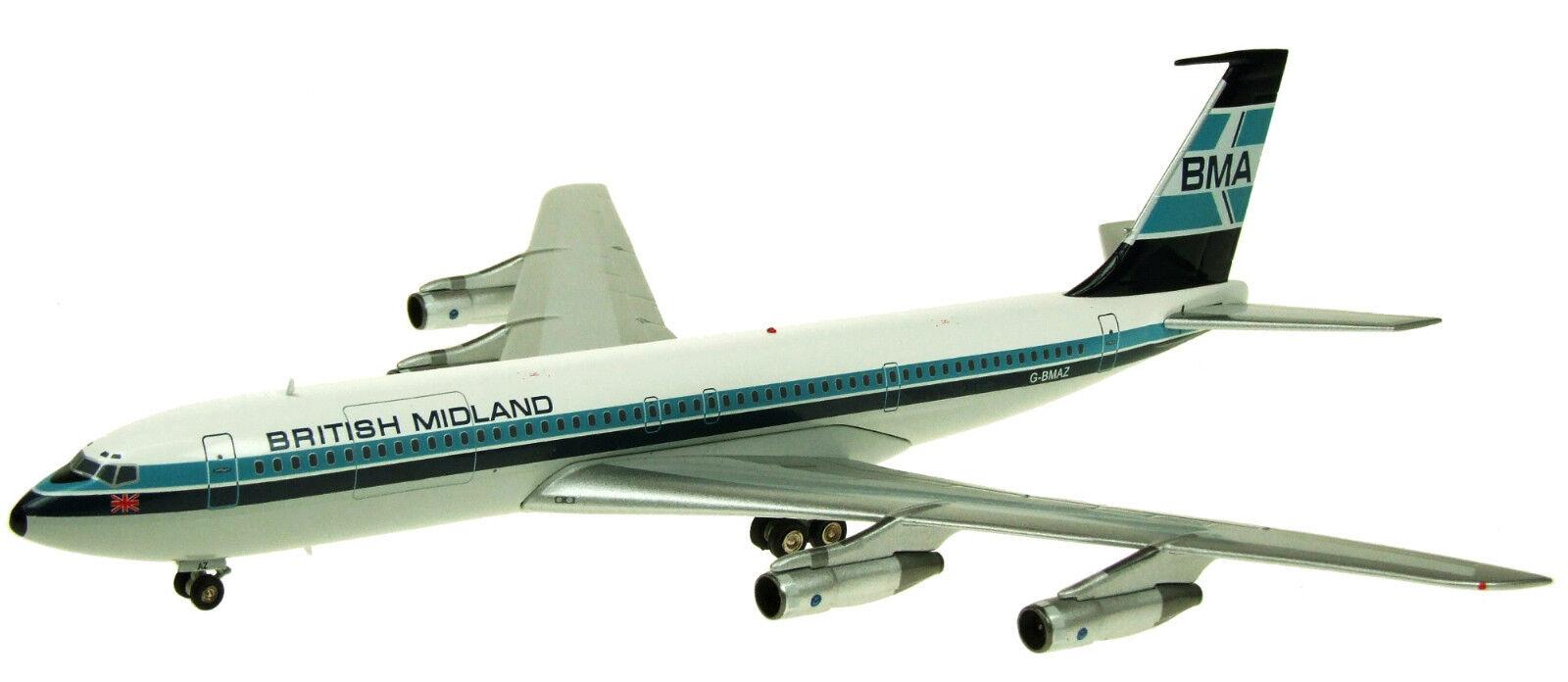 Fliegender 200 IF7070714 1/200 Britisch Midlands Airways 707-321c G-Bmaz