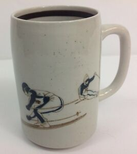 Vintage Glazed Coffee Mug Competitive Alpine Skiers Awesome