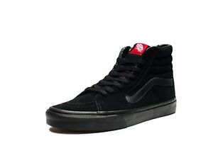 Vans SK8 HI Black Black Black Skateboarding Shoes Classic Vans Suede ... 1fee1eb1179