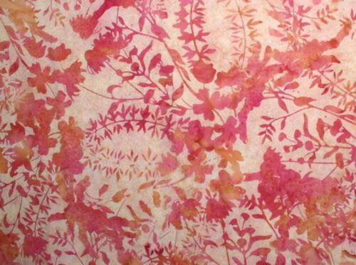 Hoffman Bali Batik Meadow Flowers G2178-416-Marmalade Cotton Batik Fabrc BTY