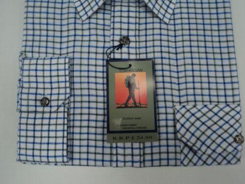 Da Uomo Big Size Tradizionale Country Classics manica lunga camicie di controllo da Tom Hagan