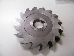 3 X 3//4 X 1 1//4 HSS STAGGERED TOOTH SIDE MILL CUTTER HORIZONTAL MILL TiN COATED