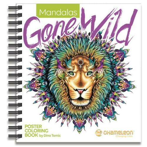 Chameleon MANDALAS GONE WILD Poster Coloring Book 20 Amazing Posters to Colour