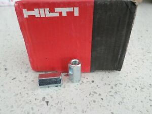 New-Hilti-M6-x18-Zinc-Plated-Stud-Connectors-Hex-Threaded-Bar-Rod-extender-x2
